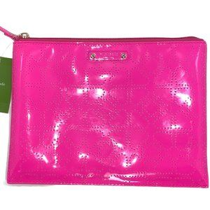 NWT Kate Spade Neon Pink Large Pouch / Pencil Case